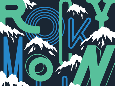 Type Hike type sampler green blue nature typography national parks mountains lettering type hike