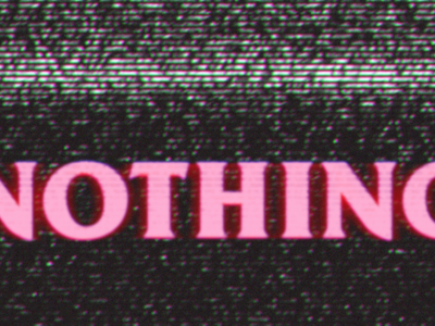 NOTHING tv black pink nothing vintage 80s glitch crt