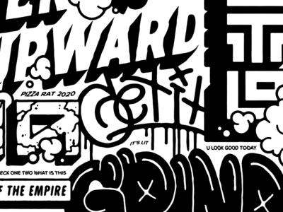 GET IT burner tags new york graffiti street type supreme typography lettering