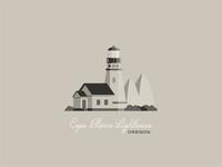 Cape Blanco Lighthouse vector northwest design illustration flat design lighthouse flat illustration coast pnw oregon