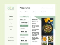 Healthy & Whole Nutrition Website Landing Page landing page design healthyfood whole healthy nutrition website wireframe landingpage