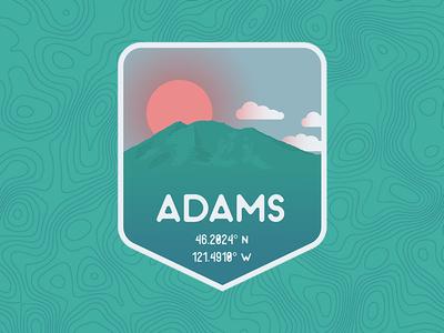 Mount Adams, WA badge northwest pnw mountains