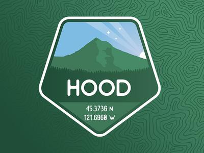 Mt. Hood Badge gradient northwest topography illustrator badge pnw green logo mountain
