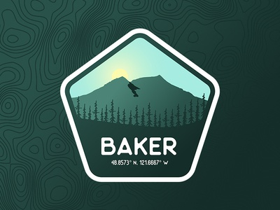Mt. Baker Washington Badge