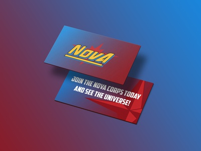 Nova Corps Business Card // Dribbble Weekly Warm-Up