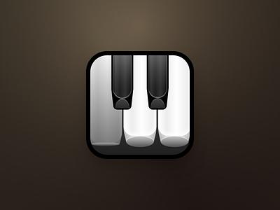 Piano Play Icon keys piano app icon ios