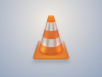 VLC Icon in Blender - Skeuomorphic 3d blender skeuomorphic icon vlc