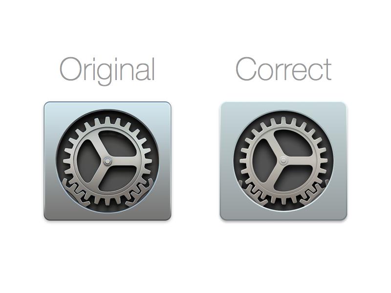 Correct yosemite settings icon by eli slade dribbble - Apple icon x ...