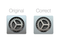 Correct Yosemite Settings Icon