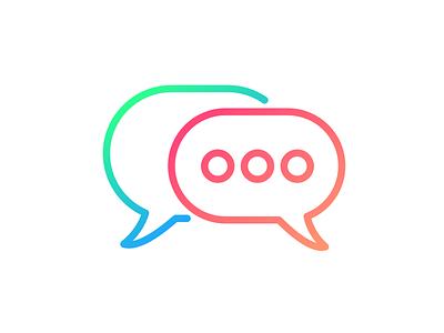 Communication speech bubbles communication