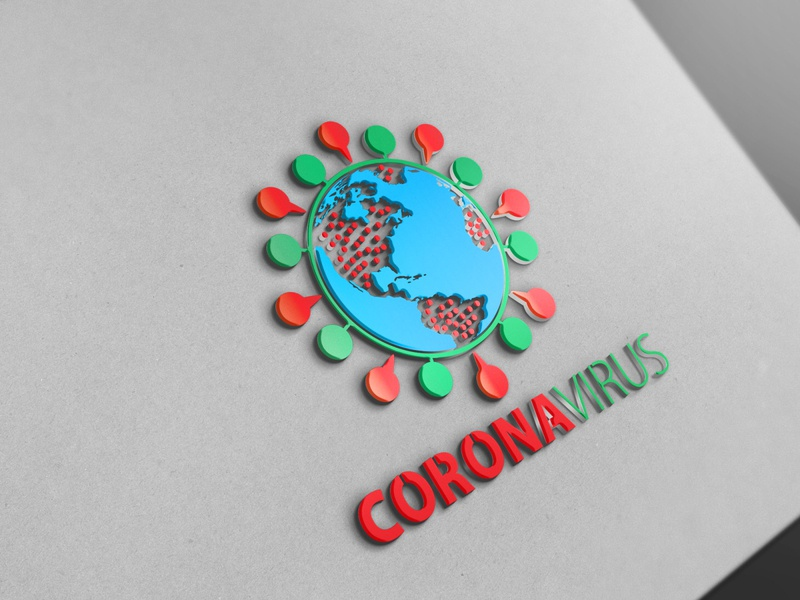 Corona Virus solution pixel modern media letter identity group firm entertainment dynamic dots dot digital data check business branding brand agency corona virus