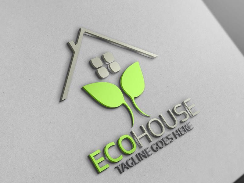 Eco House Logo by Josuf Media on Dribbble