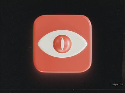 DailyUI :: 005 - App Icon dailyui 3d art social blender3d blender 3d ui app figma design concept minimal