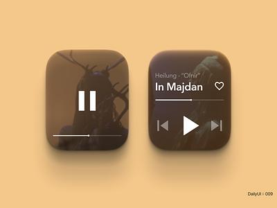 DailyUI :: 009 - Music Player sugar experiments dailyui app figma design concept minimal