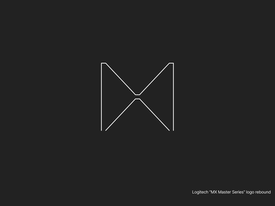 "Logitech ""MX Master Series"" Rebound logo black white clear app figma design concept minimal"