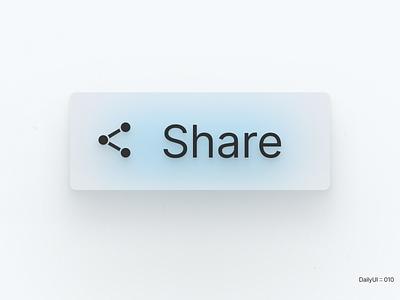 DailyUI :: 010 - Share Button dailyui black white ui clear app figma design concept minimal