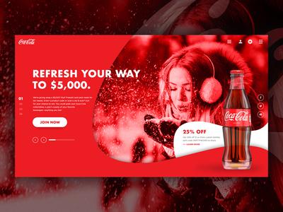 Coca-Cola Landing Page web design ux design ui design mockup landing branding design landing page concept landing page website web ux ui