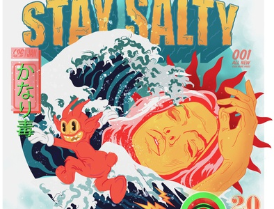 Stay Salty | Illustration character design typogaphy graphic design personal vector art design illustration