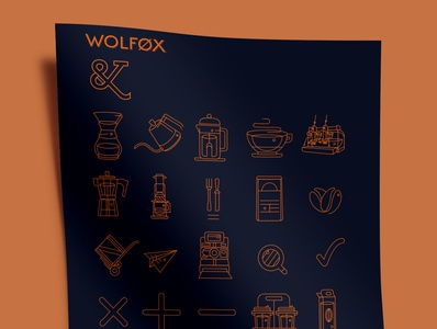 Wolfox | Icon Design ui icon typography vector logo vector art branding illustration design graphic design