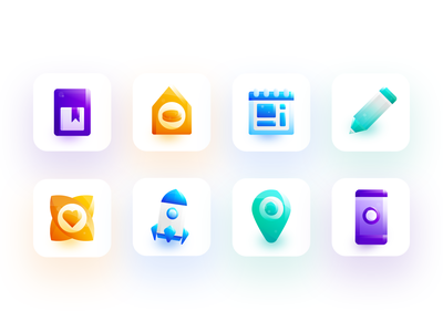 Education and training related icons ui related training education icon logo illustration