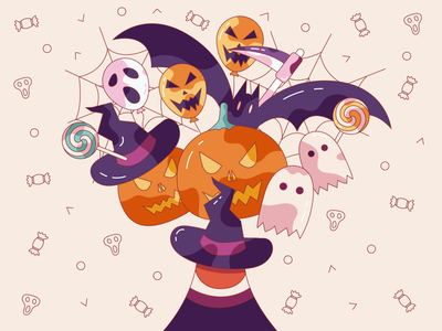 Catch you candy illustration magic naughty helloween