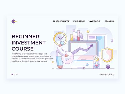 Beginner  Investment  Course video course investment ui design web illustration