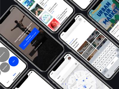 Geolocation based event finder app design