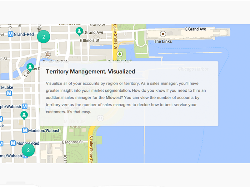 Feature Page: Maps for Base CRM maps geolocation android ios
