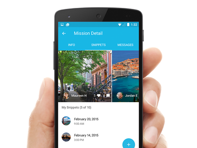 Mission Detail VIew for Android dscout ux ui app mobile android material design