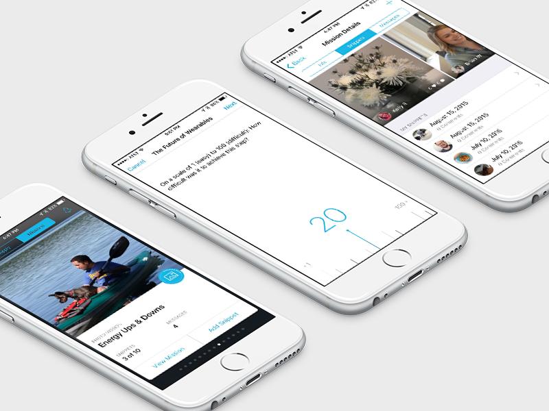 NEW dscout iOS App mobile ux iphone app ui dscout ios