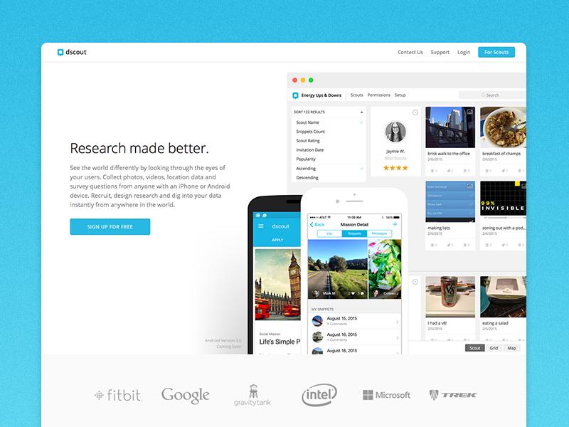 dscout Website Redesign web app modern minimal clean dscout
