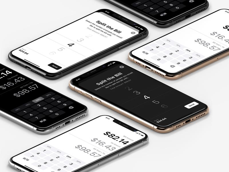 Tip App clean calculator ux mobile app ui ios
