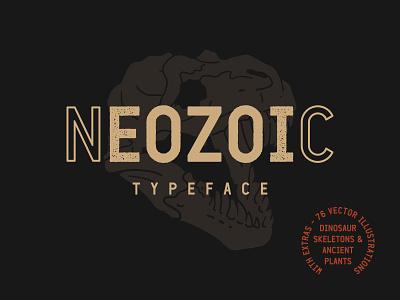 Neozoic Font Family neozoictypeface ancientplants ancient dinosaurskeleton dinosaur displayfont neozoicfont font neozoic