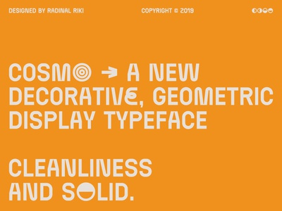 Cosmo™ Typeface