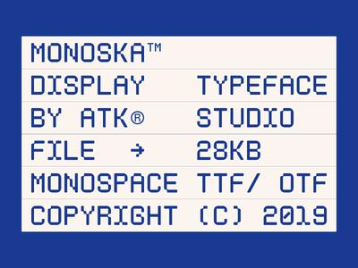 Monoska™ Typeface