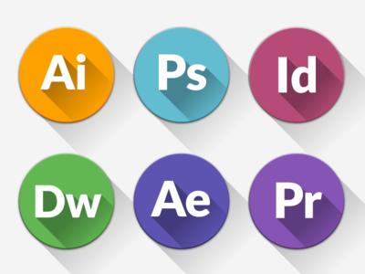 Freebie - Almost Flat CS Icons icons freebie cs long-shadow