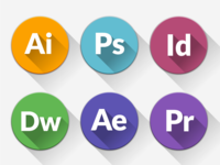 Freebie - Almost Flat CS Icons
