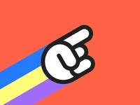 RIP, Pointy Finger Logo