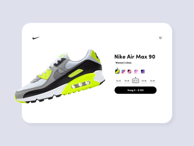 Product page UI clean design product design nike website nike products minimalistic design online store ecommerce product page design graphic design design web design website design ux