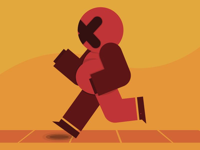 El Caminante cross vector creative way sun red walking illustrator colors design