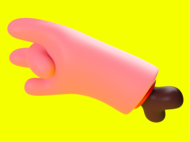 Hand toy character c4d cgi maxon photoshop hand colors illustration design