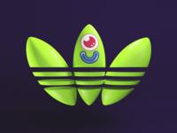 Adidas Green 2D Face