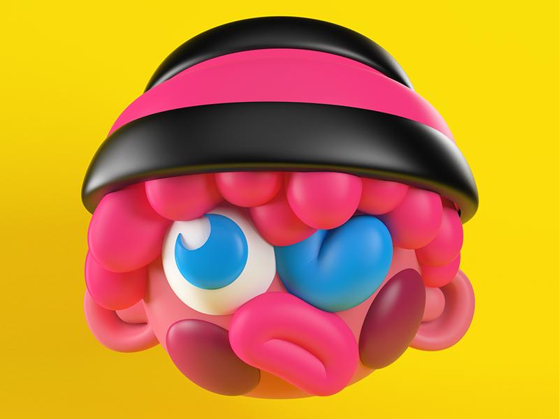 Gum Boy maxon cgi illustration fun toy colors character design gum bubble