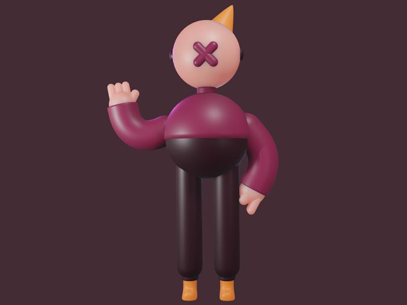 Hi Stranger cute design toy plastic funny c4d render illustration character cgi