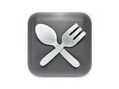 Spoon & Fork spoon fork icon cinema4d 3d metal