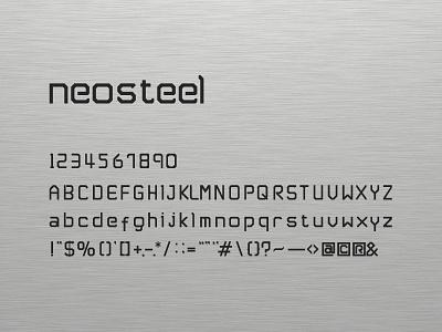 Neosteel - Modern Font font neosteel free