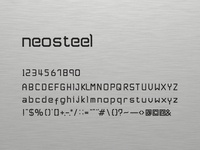 Neosteel - Modern Font