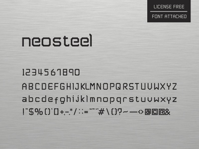 Neosteel - Modern Font free neosteel font