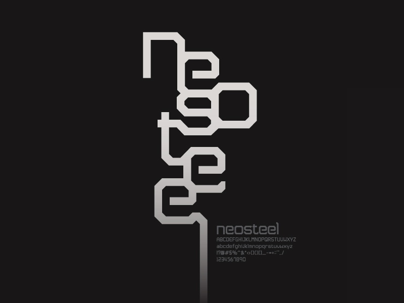 Neosteel - Modern Font neosteel font free poster