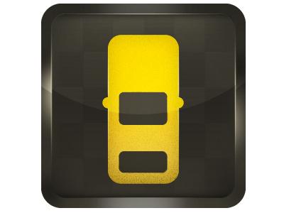 Yellow Cab yellow cab cab icon design yellow car iphone iphone5 iphone4 illustrator